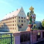Schloss und Pöppelmannbrücke in Grimma