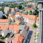 Blick von der Stadtkirche zum Altmarkt und zur Franziskaner-Klosterkirche