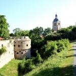 Burg Querfurt, Burggraben und Stadtkirche