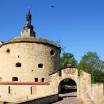 Burg Querfurt, Osttor und Ostbastionht von Süden