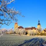 Burg Querfurt, Ansicht von Süden im Winter, Zustand 2007