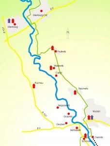 Das Tal der Mulde zwischen Wurzen und Eilenburg