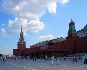 Kremlmauer am Roten Platz mit dem Leninmausoleum