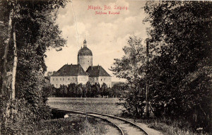 Mügeln, Schloss Ruhetal, Ansichtskarte um 1910