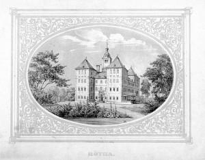 Historische Ansicht des Schlosses Rötha