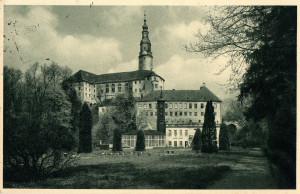 Schloss Weesenstein, Postkarte vor 1945