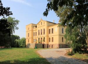Rittergut Altenhain, Herrenhaus, Parkseite