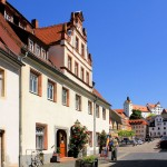 Marktplatz und Schloss Colditz