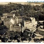 Schloss Colditz, Luftaufnahme, Postkarte um 1940