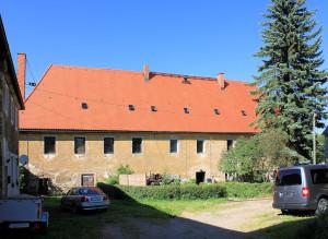 Rittergut Colmnitz, Herrenhaus, Hofseite
