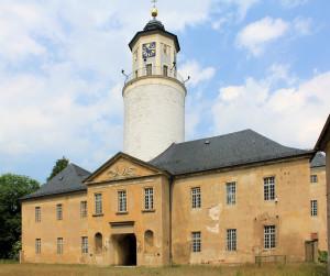 Schloss Crossen (Elster), Westflügel und Turm