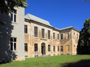 Schloss Dahlen, Parkseite (Zustand Juli 2015)