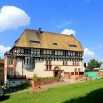 Flößberg, Rittergut Obern Teils, Rückansicht des Herrenhauses