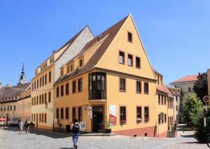 Torgau, Freier Hof bei der Mauer des Franziskanerklosters