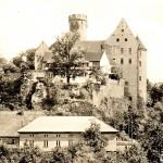 Burg Gnandstein, Ansicht von Süden, Postkarte um 1970