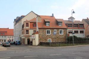 Stadtschreiberhaus und Stadtmauer am Pappischen Tor in Grimma