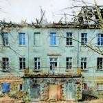 Herrenhaus des Rittergutes Großzschepa kurz vor dem Abbruch