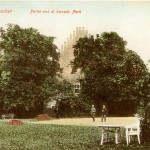 Rittergut Großzschocher, Park und Pächterhaus 1908
