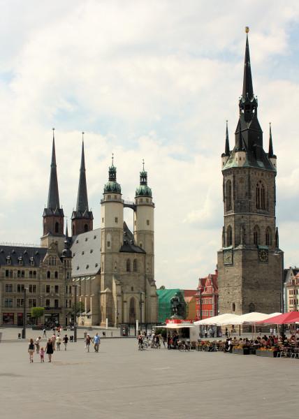 halle saale roter turm ehem marienkirche stadt halle saale kirchen sachsen anhalt stadt. Black Bedroom Furniture Sets. Home Design Ideas
