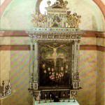 Jagdschloss Augustusburg, Altar in der Schlosskapelle, Postkarte 1980er Jahre