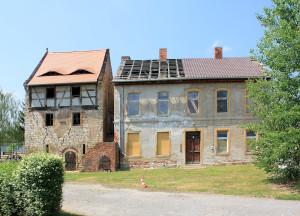 Rittergut Kleinosida, Wohnturm und Herrenhaus
