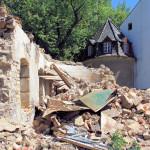 Rittergut Kobershain, westlicher Torturm (Zustand Juli 2015)