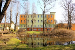 Krostitz, Rittergut Klein-Krostitz, Herrenhaus Parkseite