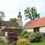 Rittergut Lampertswalde, Wirtschaftshof und Kirche