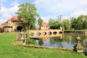 Rittergut Lampertswalde, Park und Brücke