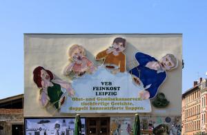 Löffelfamilie an der Feinkost in Leipzig