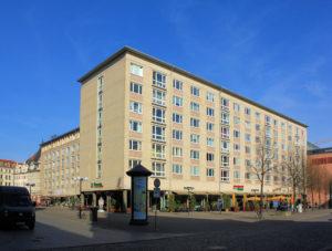 Wohnblock am Markt in Leipzig