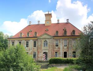 Rittergut Leuben, Schloss, Hofseite