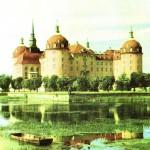 Jagdschloss Moritzburg, Postkarte 1960er Jahre, VEB Bild und Hemat Reichenbach/Vogtland