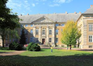 Rittergut Ostrau, Parkseite Schloss