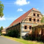 Rittergut Pomßen, Wirtschaftsgebäude (Zustand Juni 2014)