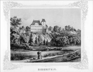 Rittergut Bieberstein, Oberes Schloss, Bergfried und Niederes Schloss