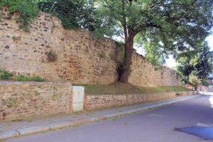 Stadtmauer an der Poststraße in Roßwein