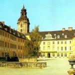 Schloss Heidecksburg, Schlosshof, Postkarte 1980er Jahre