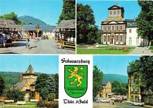 Schwarzburg, Kaisersaal, Postkarte 1980er Jahre