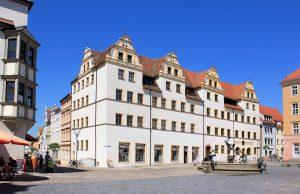Markt 3/4 mit Mohren-Apotheke Torgau