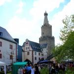 Weida, Schloss Osterburg, Schlosshof und Bergfried