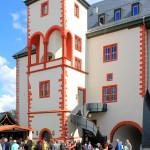Weida, Schloss Osterburg. Treppenturm und Arkaden