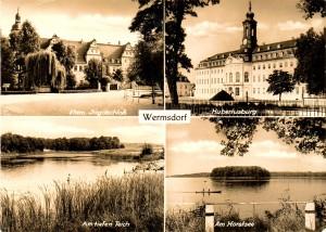 Jagdschloss Hubterustburg und Altes Jagdschloss, Postkarte um 1960