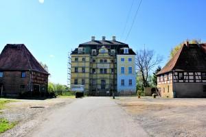 Schloss Wiederau, (Zustand April 2014)