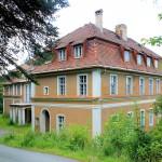 Thermalbad Wiesenbad, Schloss Hohenwendel, NordostansichtHauteingang