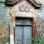 Rittergut Zedtlitz, Herrenhaus, Portal Parkseite