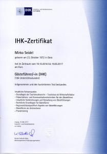 IHK-Zertifikat Mirko Seidel Leipzig