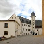 Zschopau, Schloss Wildeck, Schlosshof mit Treppenturm