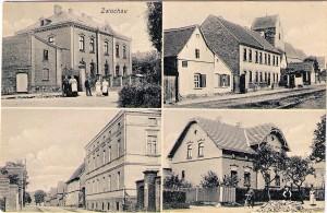 Postkarte (Alter unbekannt) mit dem Herrenhaus (links unten)