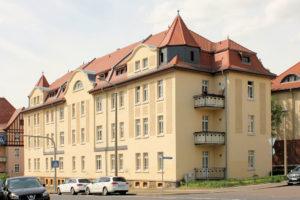Wohnhaus Röthische Straße 21/23, Teichgräberstraße 18 Lößnig